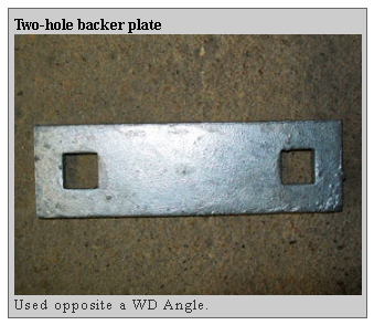 2 hole backer plate Dockside Marine Supply Company    Floating Docks  PWC Floats   Dock Hardware   Floating Dock Components