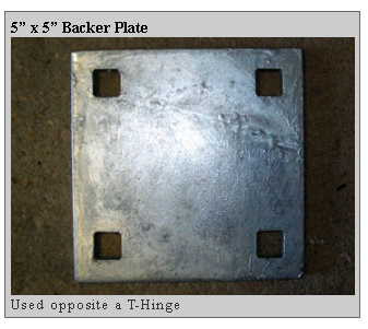 backer plate Dockside Marine Supply Company    Floating Docks  PWC Floats   Dock Hardware   Floating Dock Components