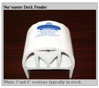nor easter dock fender Dockside Marine Supply Company    Dock Hardware