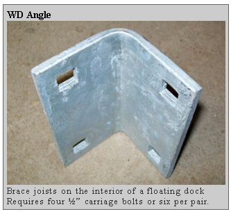 wd angle Dockside Marine Supply Company    Floating Docks  PWC Floats   Dock Hardware   Floating Dock Components